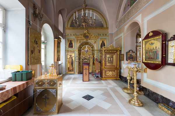 Интерьер Храма Влахернской иконы Божией Матери в Кузьминках