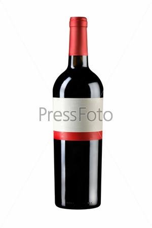 Запечатанная бутылка вина