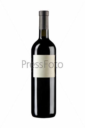 Фотография на тему Запечатанная бутылка вина с этикеткой