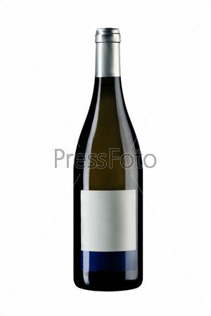 Запечатанная бутылка вина с этикеткой