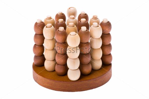 Фотография на тему Игра-головоломка на белом фоне