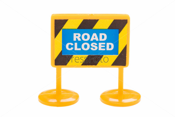 Фотография на тему Игрушечный дорожный знак крупным планом