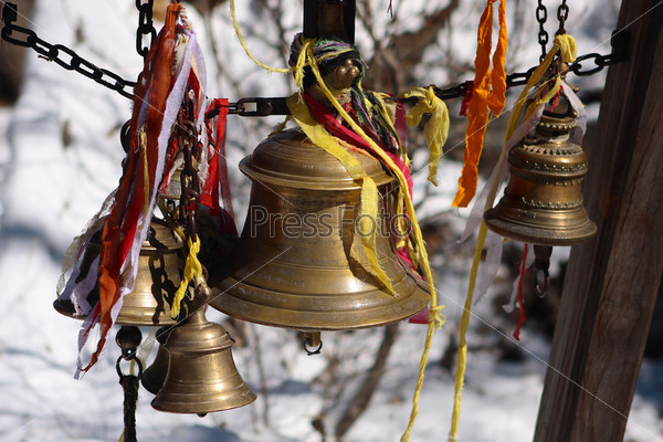 Колокол в Муктинатх, Непал