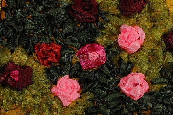 Фотография на тему Розовые и красные розы