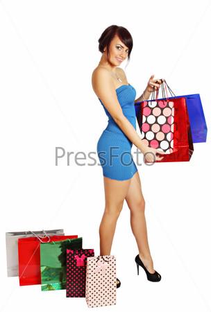 Фотография на тему Женщина с сумками