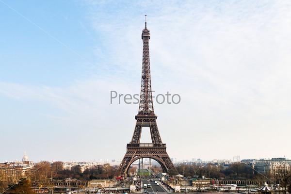Фотография на тему Эйфелева башня с Трокадеро в Париже