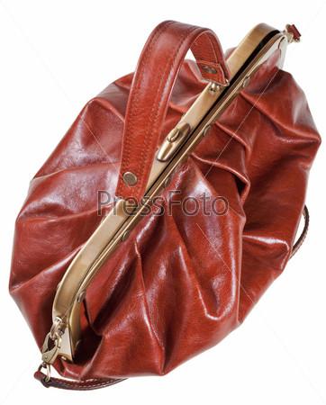 Коричневый кожаный клатч в стиле ретро