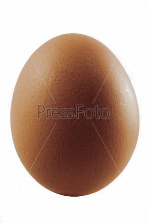 Простое чистое коричневое яйцо, изолированное на белом