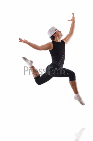 Фотография на тему Танцор, изолированный на белом фоне