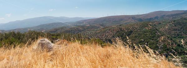 Фотография на тему Красивый пейзаж холма, Крит, Греция