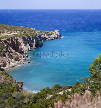 Фотография на тему Красивый морской пейзаж острова Крит