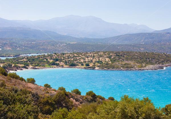 Красивый морской пейзаж острова Крит