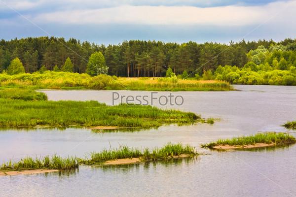 Фотография на тему Река и лес
