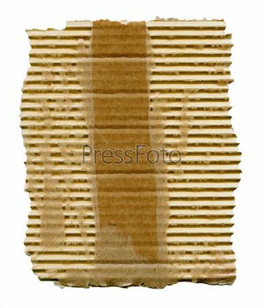 Разорванный картон, изолировано