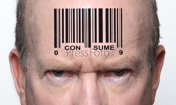 Фотография на тему Штрих-код на мужчине
