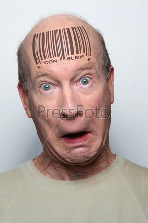 Фотография на тему Штрих-код на человеке