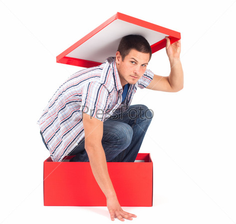 Фотография на тему Человек в коробке
