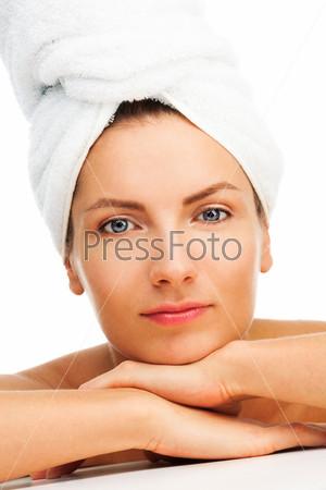 Фотография на тему Расслабленная женщина после душа