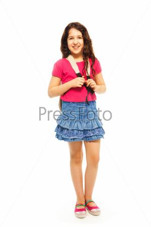Счастливая 11-летняя девочка