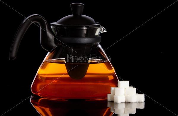 Фотография на тему Чайник и сахар