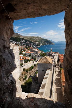 Вид из башни замка Дубровник