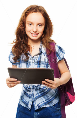 Фотография на тему Девочка с планшетом