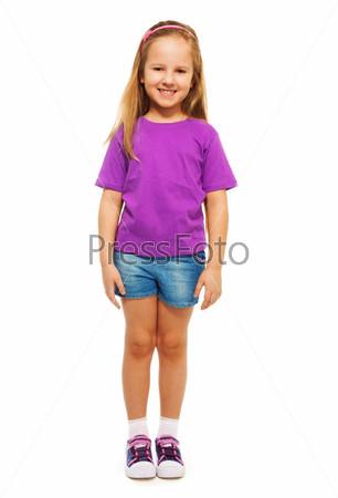Фотография на тему Счастливая шестилетняя девочка