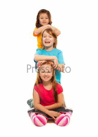 Фотография на тему Дети один за другим