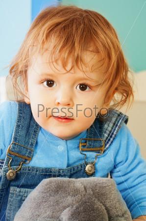 Портрет малыша крупным планом