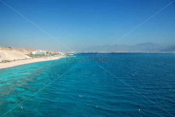 Фотография на тему Панорама пляжа Эйлат
