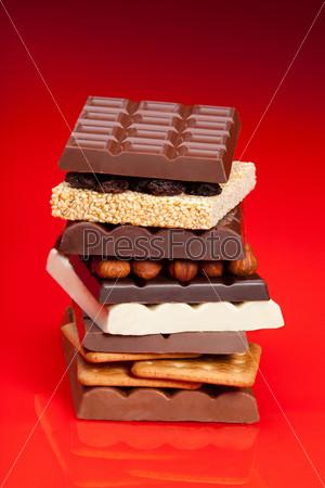 Фотография на тему Стопка шоколада