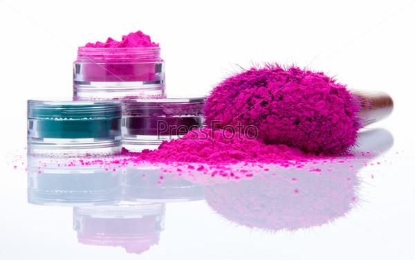 Цветная пудра для макияжа