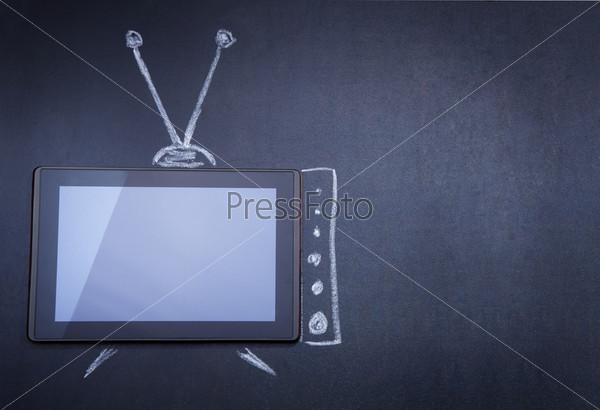Фотография на тему Планшетный компьютер вместо телевизора