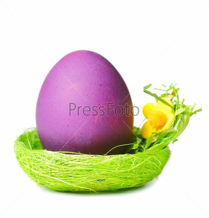 Пасхальное яйцо в гнезде
