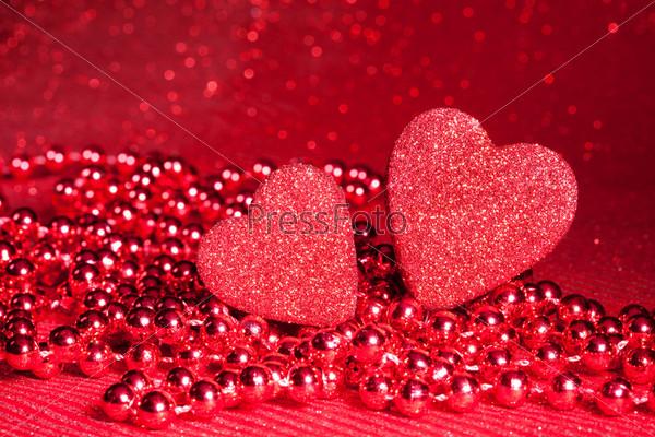 Валентинки с бусами