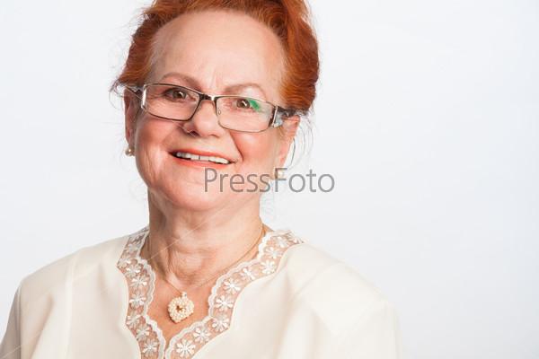 Фотография на тему Счастливая пожилая женщина
