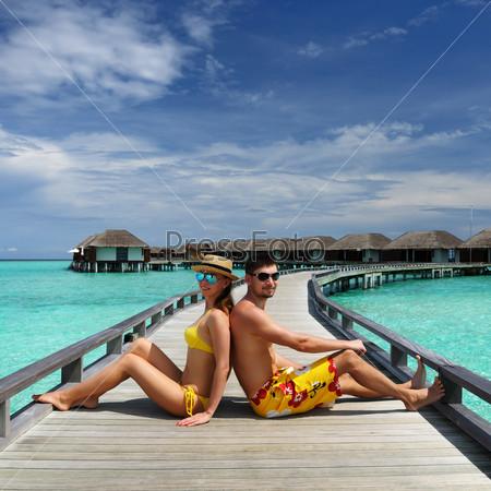 Пара на Мальдивах