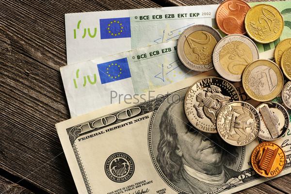 Фотография на тему Монеты США и евро