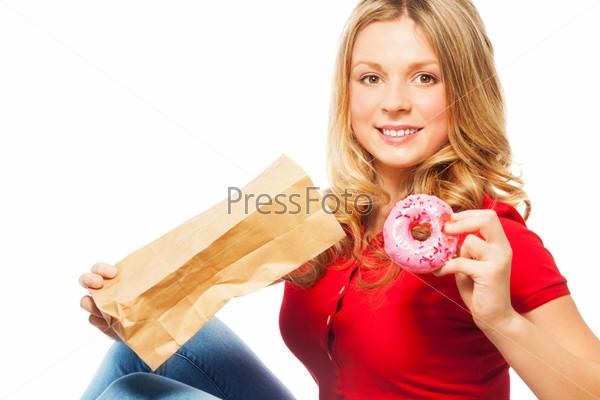 Портрет девушки с пончиками