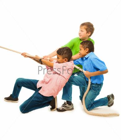 Фотография на тему Команда сильных мальчиков