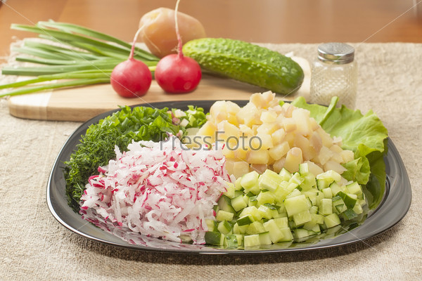 Фотография на тему Нарезанные овощи