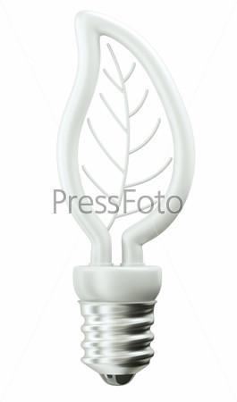 Лампочка на белом фоне