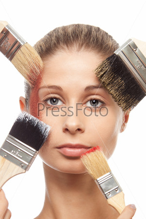 Кисти, макияж и лицо
