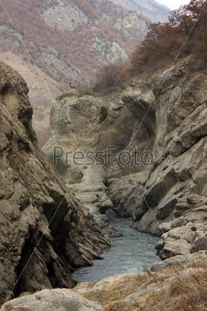 Аргунское ущелье в горах, Чеченская республика