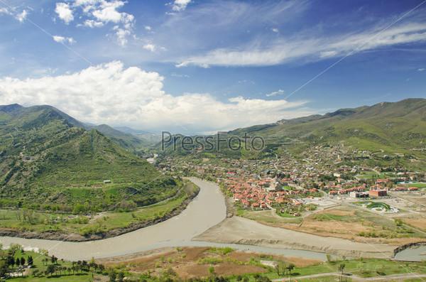 Слияние рек Арагви и Куры, Грузия