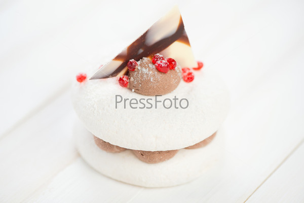 Фотография на тему Бисквитное пирожное, крупный план