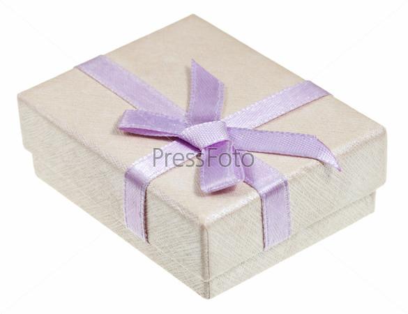 Фотография на тему Подарочная коробка с розовым бантом