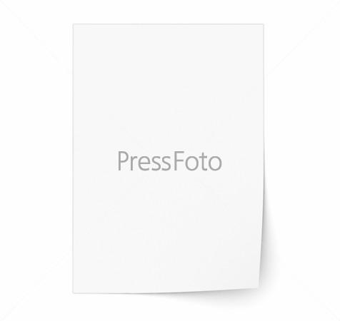 Лист белой бумаги