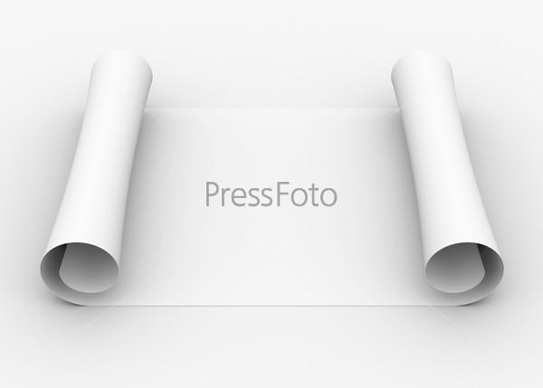 Фотография на тему Свиток белой бумаги