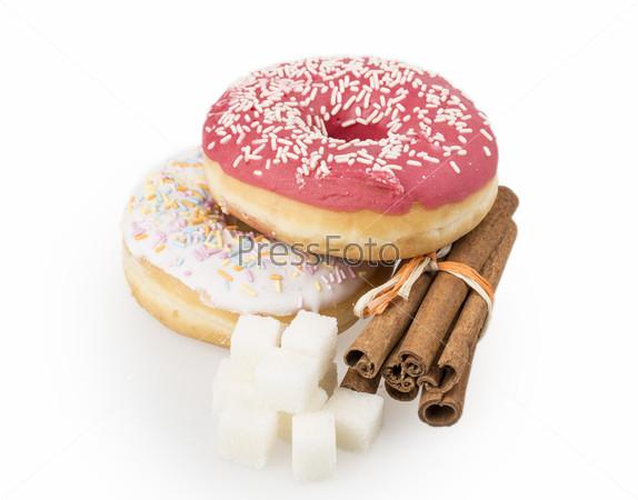 Фотография на тему Пончик, сахар, корица